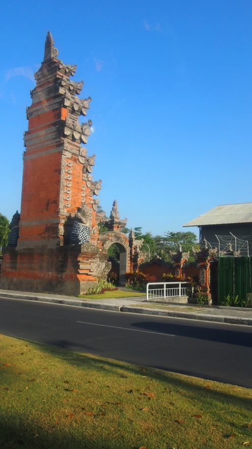 A photo of the first temple thing we came across- turns out mum took the exact same photo when she first got to Bali too