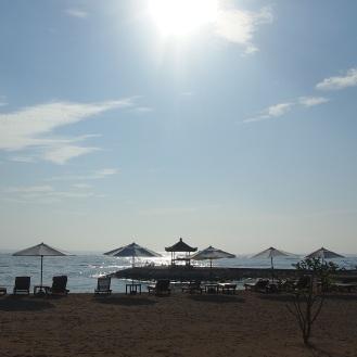 Beachfront of the resort