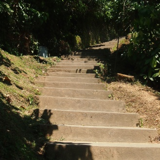 Stairs to get there