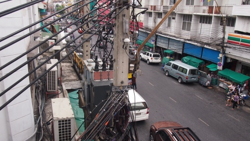 The telephone/electricity wires were insane