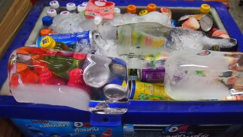 Big blocks of ice melt slower